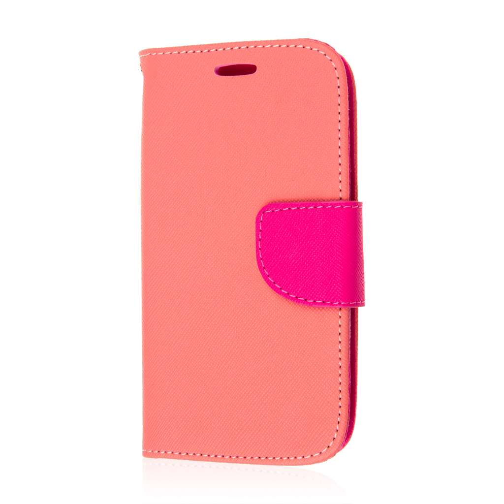 Samsung Galaxy Avant - Pink MPERO FLEX FLIP 2 Wallet Stand Case Cover