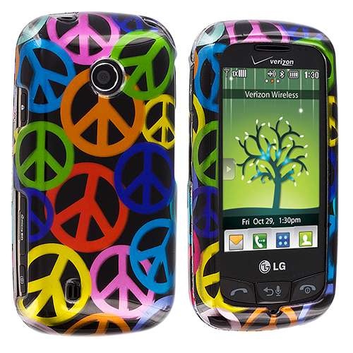 LG Cosmos Touch VN270 Peace Sign Design Crystal Hard Case Cover