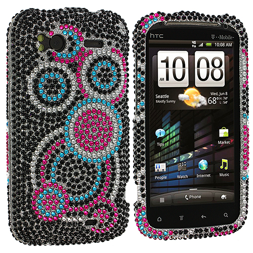 HTC Sensation 4G Bubbles Bling Rhinestone Case Cover