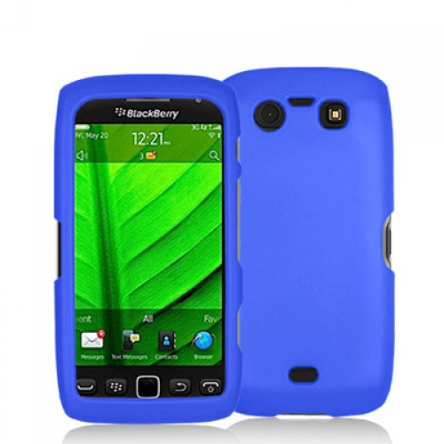 BlackBerry Torch 9850 9860 Blue Hard Rubberized Case Cover