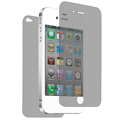 Apple iPhone 4 / 4S Front Back Matte LCD Screen Protector