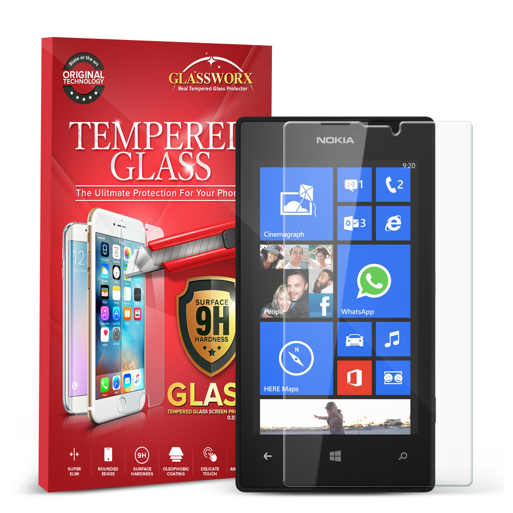 Nokia Lumia 520 GlassWorX HD Clear Tempered Glass Screen Protector