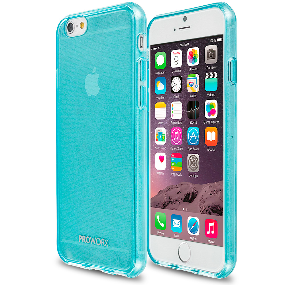 Apple iPhone 6 6S (4.7) Mint Green ProWorx Ultra Slim Thin Scratch Resistant TPU Silicone Case Cover