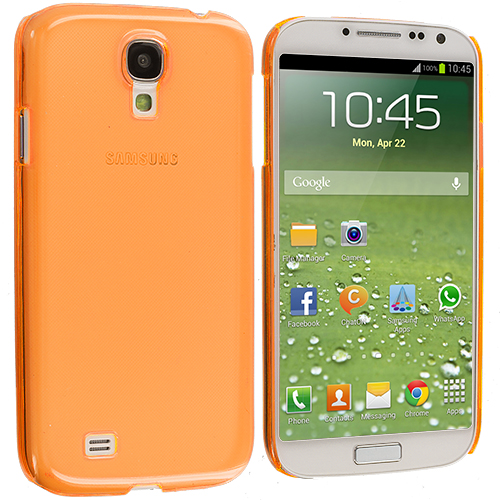 Samsung Galaxy S4 Orange Crystal Hard Back Cover Case