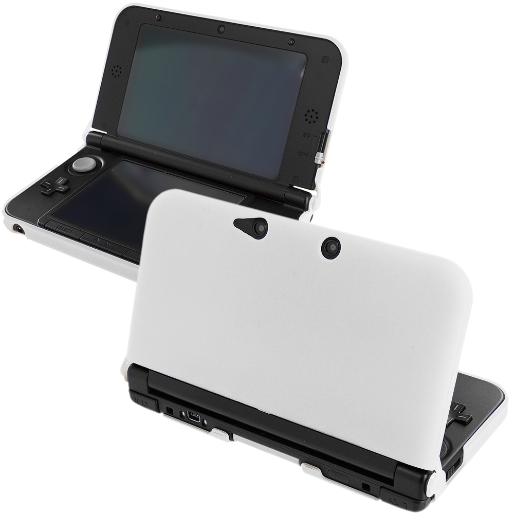 Nintendo 3DS XL White Hard Rubberized Case Cover