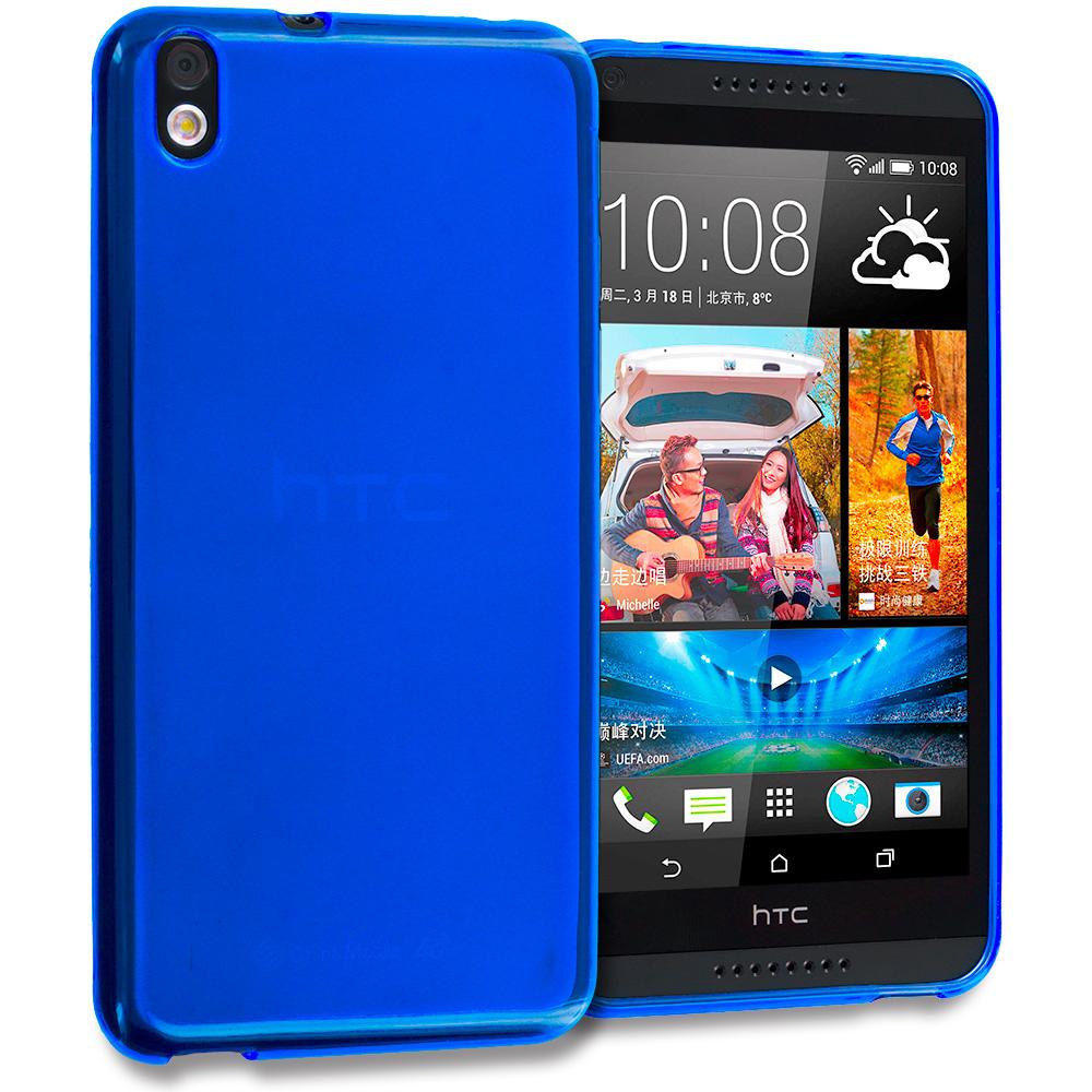 HTC Desire 816 Blue TPU Rubber Skin Case Cover