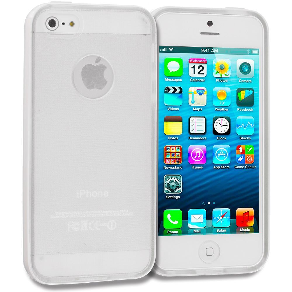 Apple iPhone 5/5S/SE White / Clear Hybrid TPU Bumper Case Cover