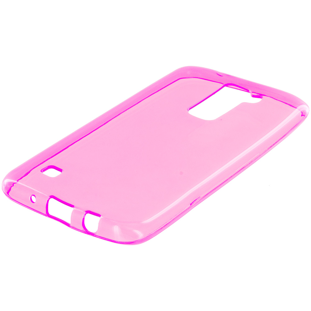 LG Tribute 5 K7 Hot Pink TPU Rubber Skin Case Cover