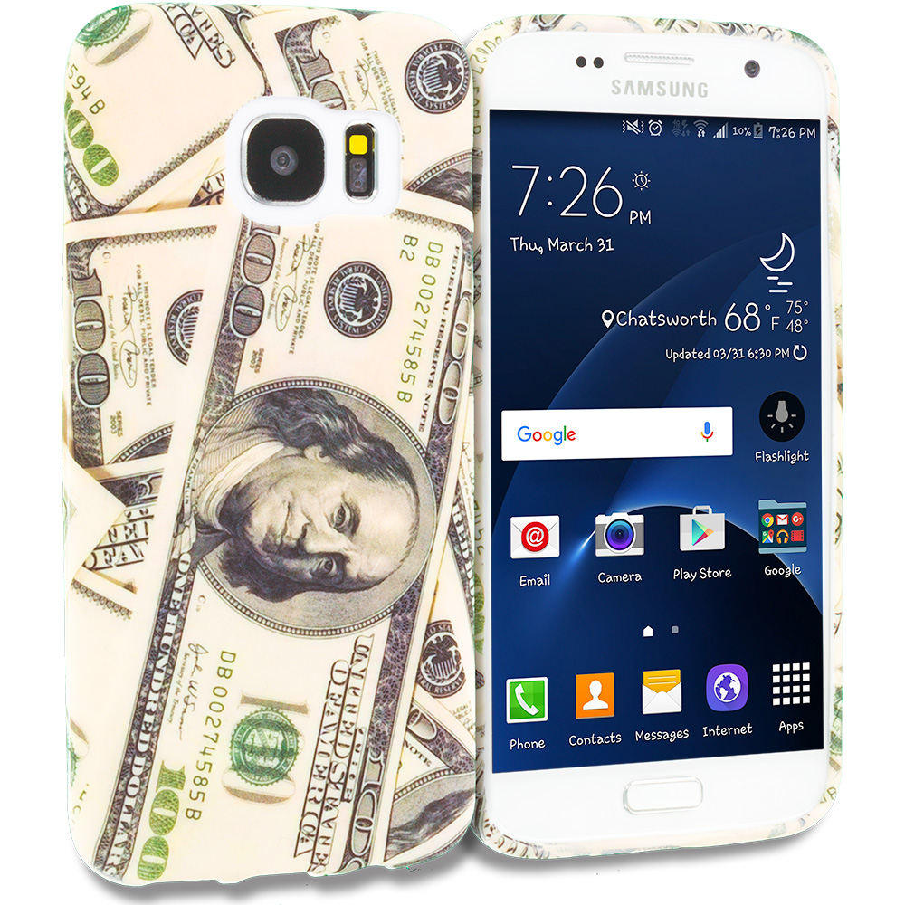 Samsung Galaxy S7 Edge Money TPU Design Soft Rubber Case Cover