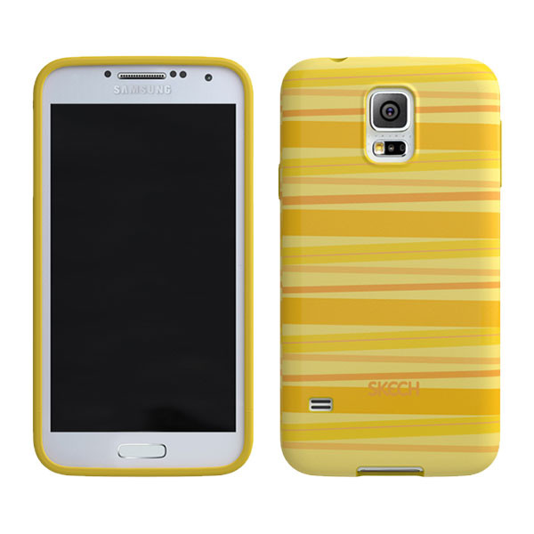 Samsung Galaxy S5 - Yellow Skech Groove Case