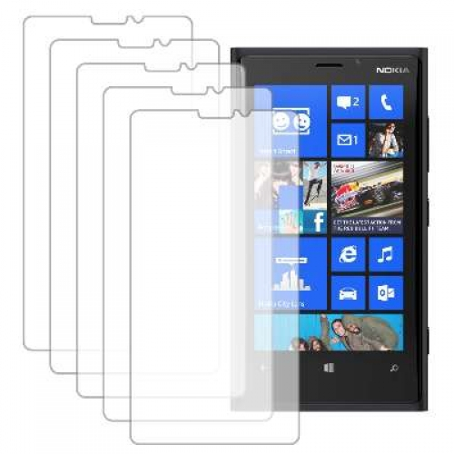 Nokia Lumia 920 MPERO 5 Pack of Clear Screen Protectors