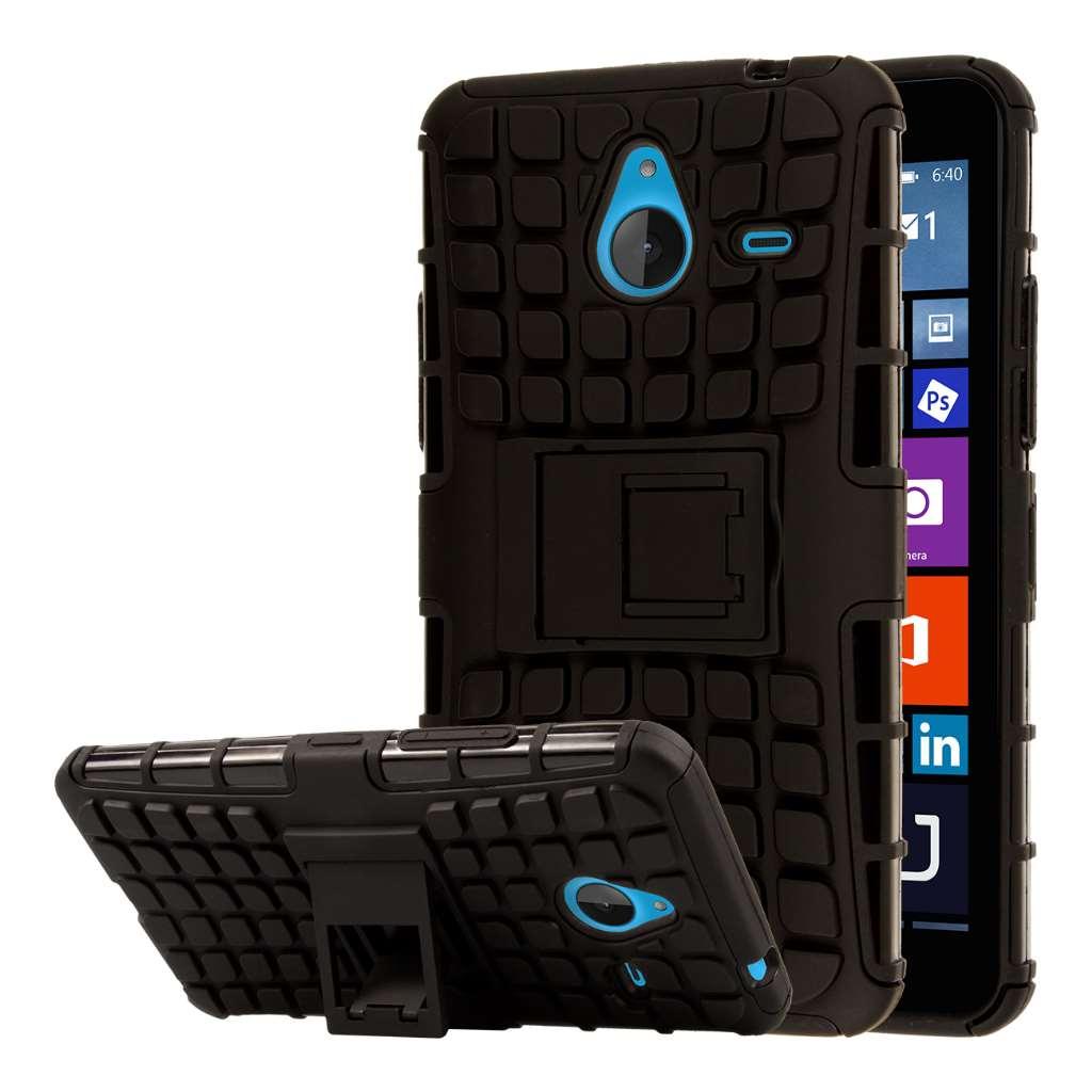 Microsoft Lumia 640 - Black MPERO IMPACT SR - Kickstand Case Cover