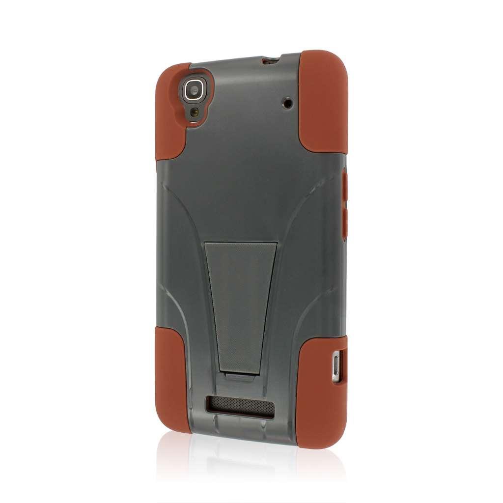 ZTE Max - Sandstone / Gray MPERO IMPACT X - Kickstand Case Cover