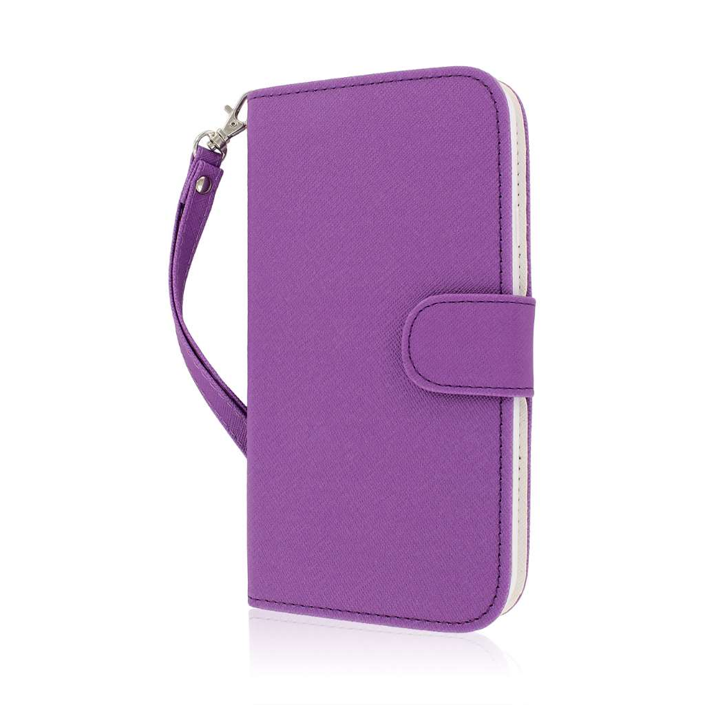 Samsung Galaxy Mega 5.8 - Purple MPERO FLEX FLIP Wallet Case Cover