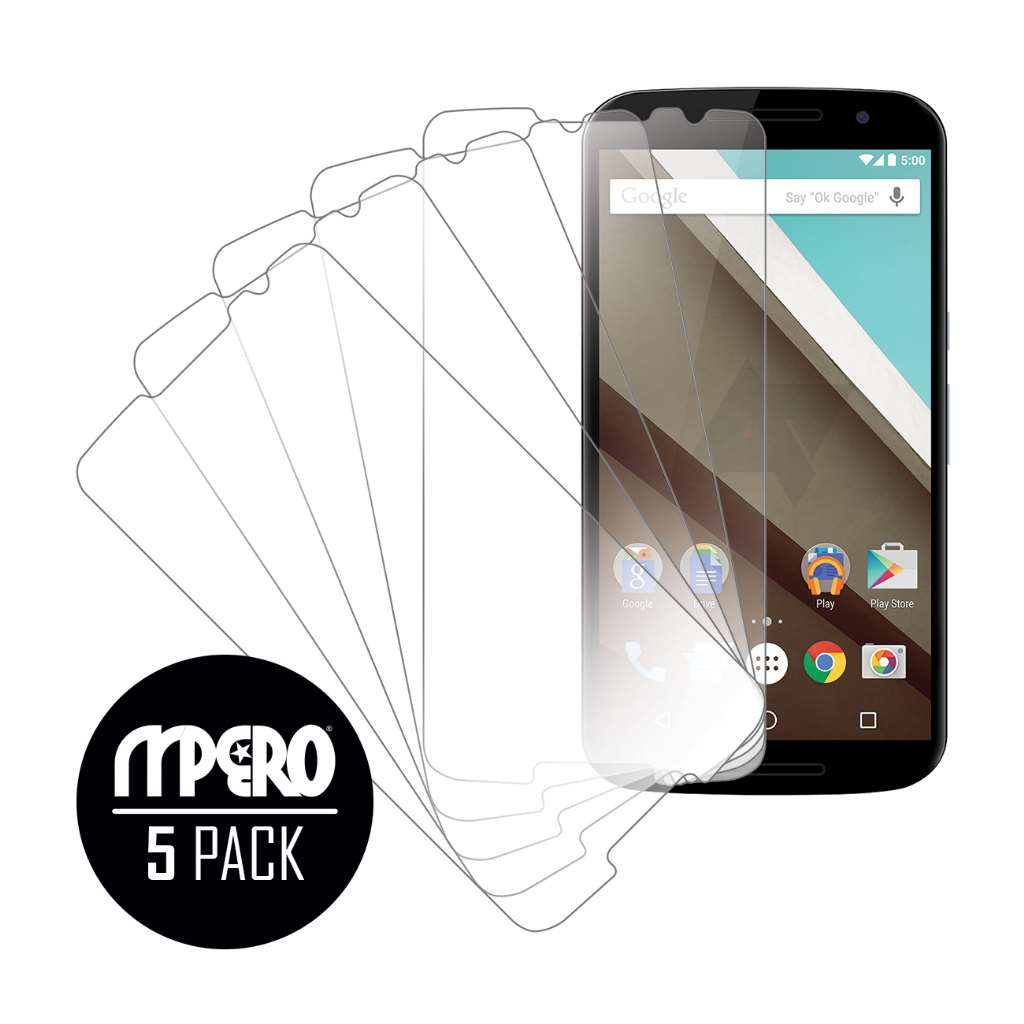 Google Nexus 6 Verizon MPERO 5 Pack of Ultra Clear Screen Protectors