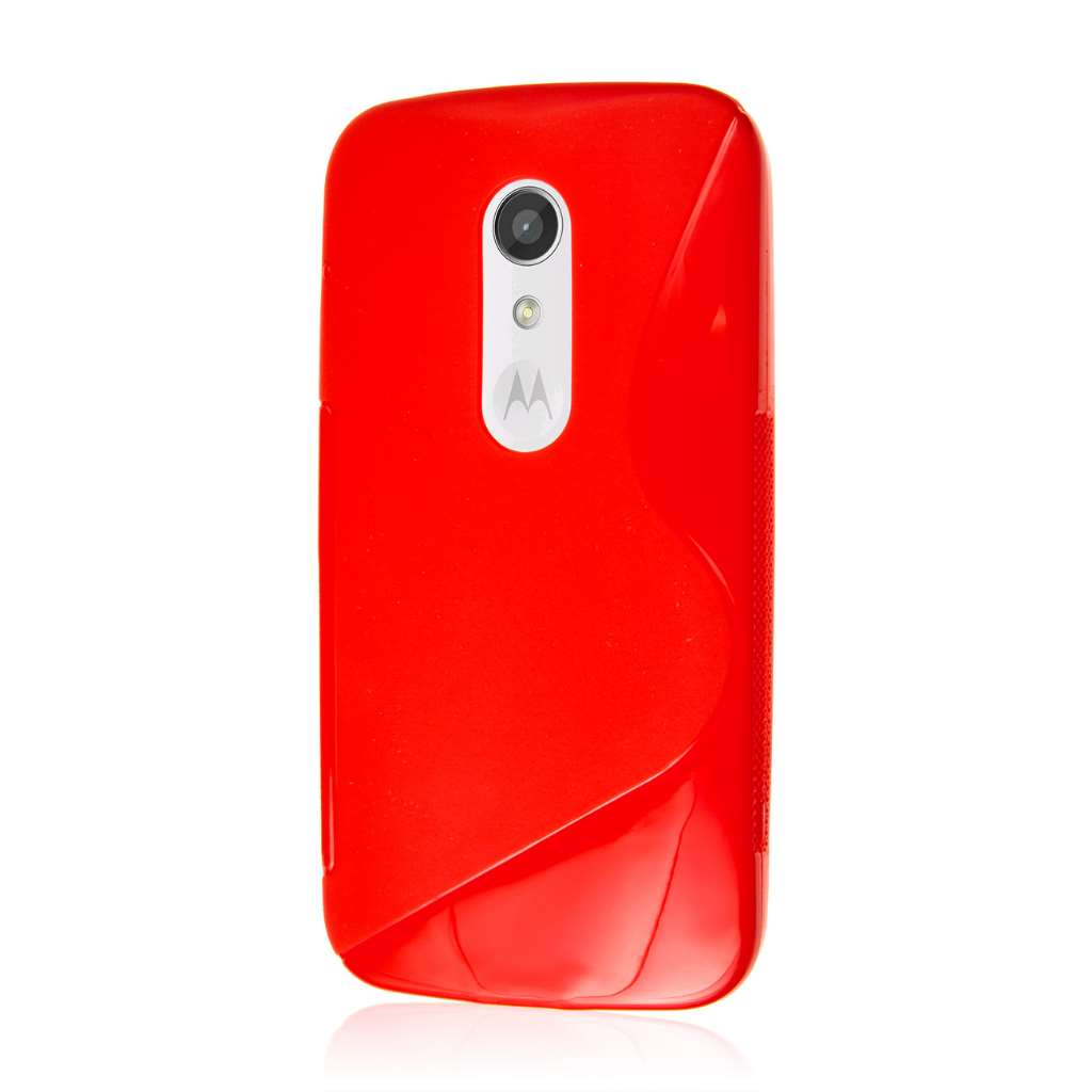 Motorola Moto G 2nd Gen 2014 - Red MPERO FLEX S - Protective Case Cover