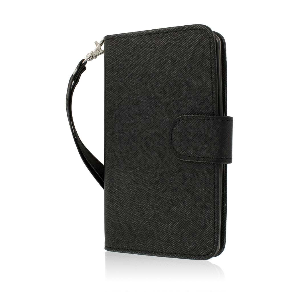 LG G3 - Black MPERO FLEX FLIP Wallet Case Cover