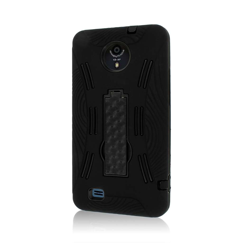 ZTE Vital N9810 - Black MPERO IMPACT XL - Kickstand Case Cover