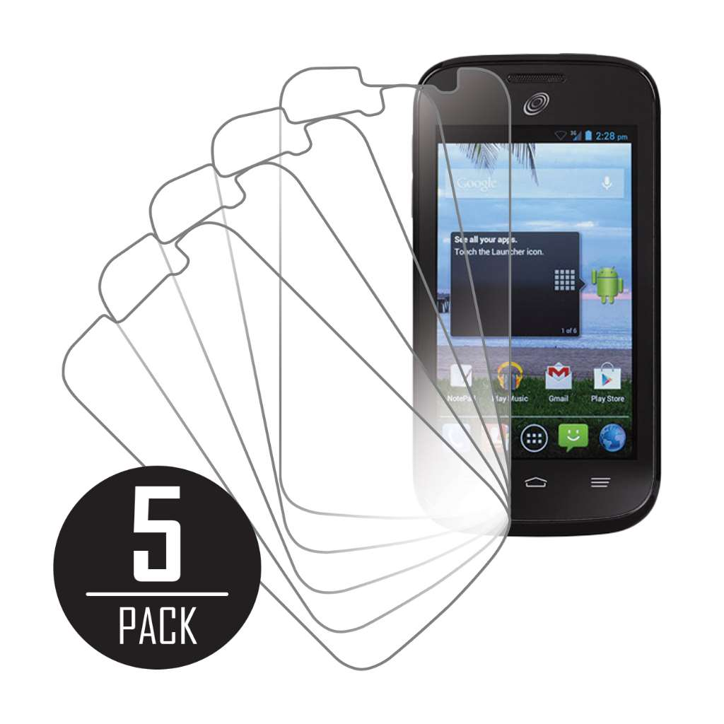 ZTE Savvy MPERO 5 Pack of Clear Screen Protectors