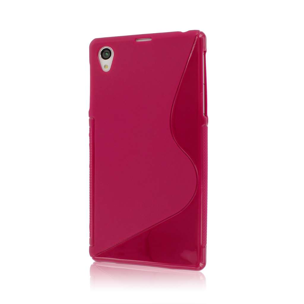 Sony Xperia Z1 C6906 - Hot Pink MPERO FLEX S - Protective Case Cover
