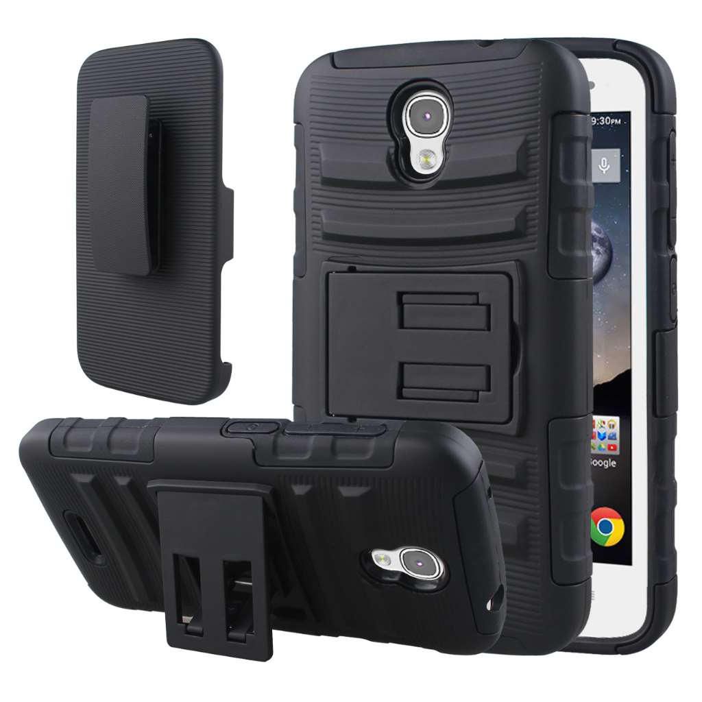 Alcatel OneTouch POP Astro - Black MPERO IMPACT XT - Kickstand Case Cover