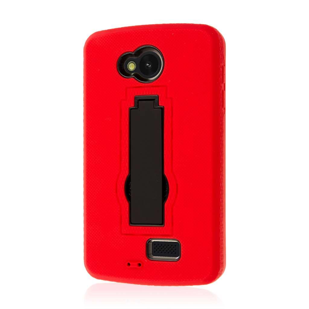 LG Transpyre / Tribute / Optimus F60 - Red MPERO IMPACT XS - Kickstand Case