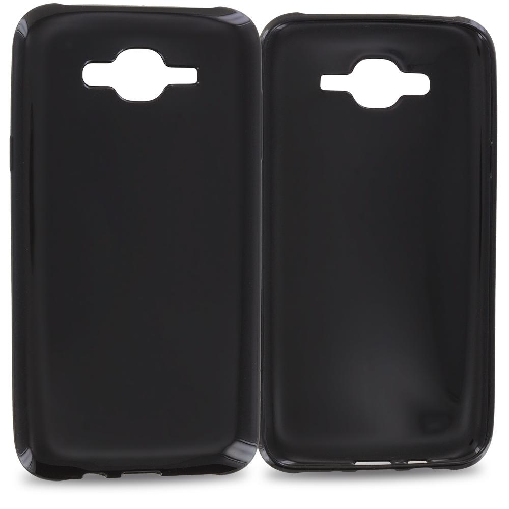 Samsung Galaxy J7 Black TPU Rubber Skin Case Cover