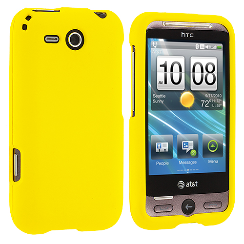 HTC Freestyle F8181 Yellow Hard Rubberized Case Cover