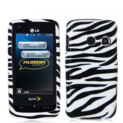 LG Rumor Touch LN510 Black / White Zebra Design Crystal Hard Case Cover