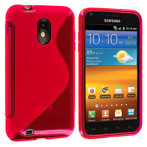 Samsung Epic Touch 4G D710 Sprint Galaxy S2 Hot Pink S-Line TPU Rubber Skin Case Cover