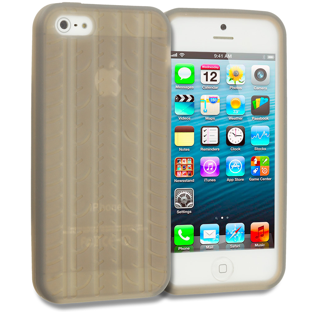 Apple iPhone 5/5S/SE Smoke Tire Silicone Soft Skin Case Cover