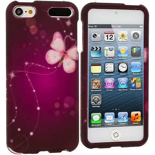 Apple iPod Touch 5th 6th Generation Dream Butterfly Hard Rubberized Design Case Cover