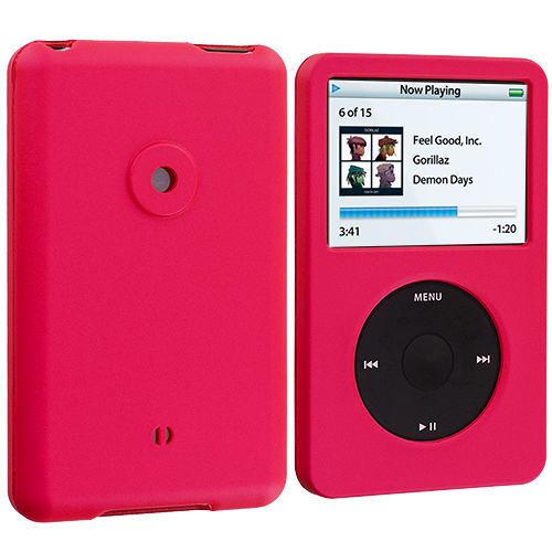 Apple iPod Classic Hot Pink Hard Rubberized Case Cover