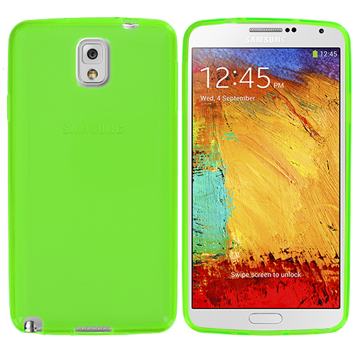 Samsung Galaxy Note 3 N9000 Neon Green TPU Rubber Skin Case Cover