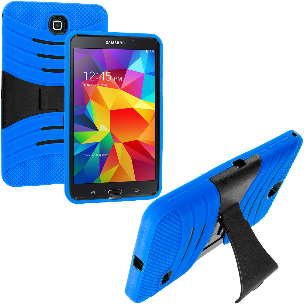 Samsung Galaxy Tab 4 7.0 Blue / Black Hybrid Hard/Silicone Case Cover with Stand