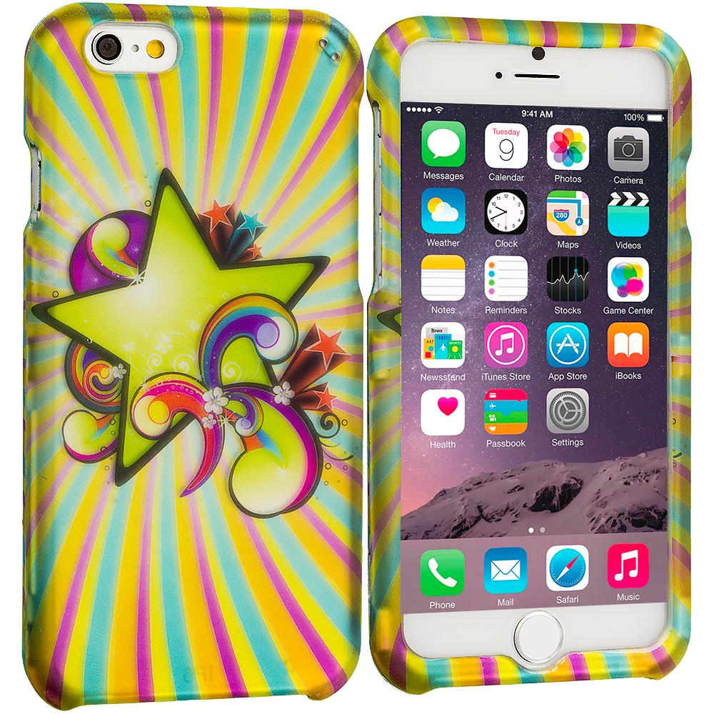Apple iPhone 6 6S (4.7) SuperStar 2D Hard Rubberized Design Case Cover