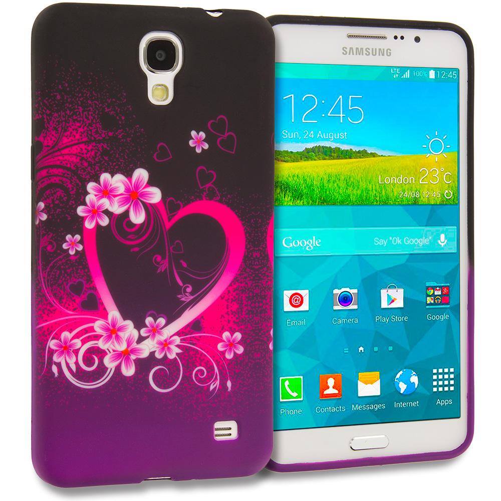 Samsung Galaxy Mega 2 Purple Love TPU Design Soft Rubber Case Cover