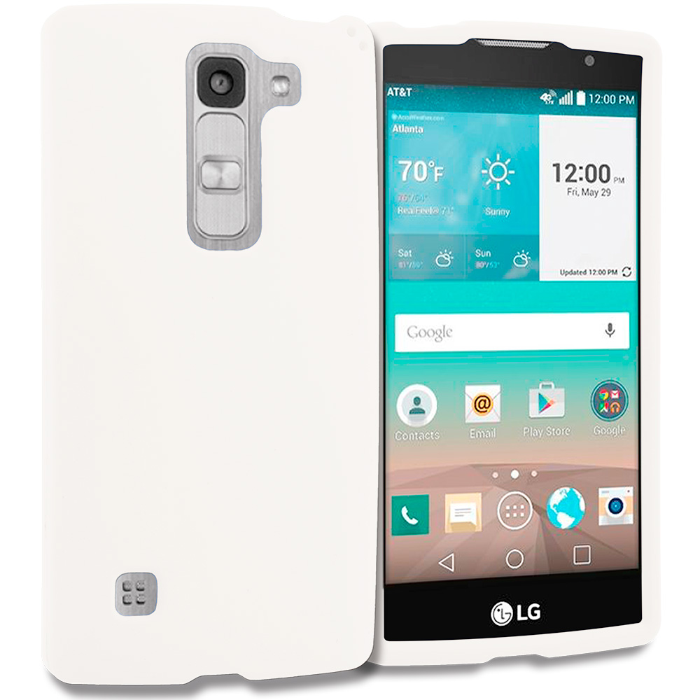 LG Escape 2 Logos Spirit LTE White Hard Rubberized Case Cover