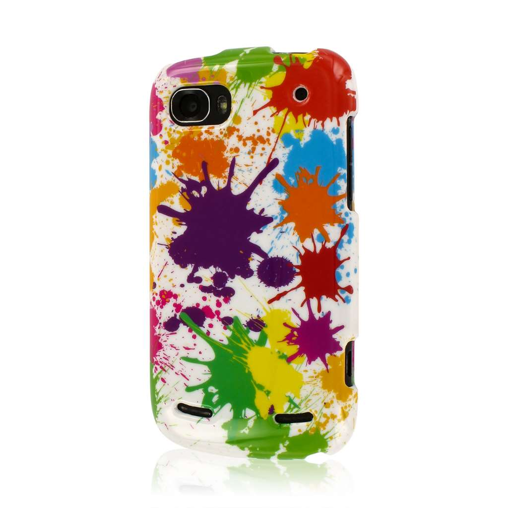 ZTE Warp Sequent - White Paint Splatter MPERO SNAPZ - Glossy Case Cover