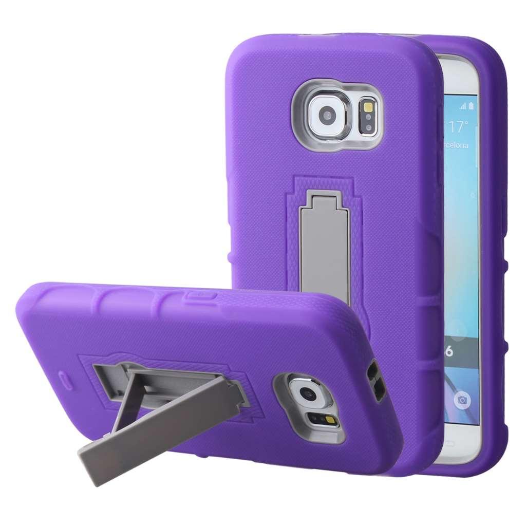 Samsung Galaxy S6 - Purple MPERO IMPACT XS - Kickstand Case Cover