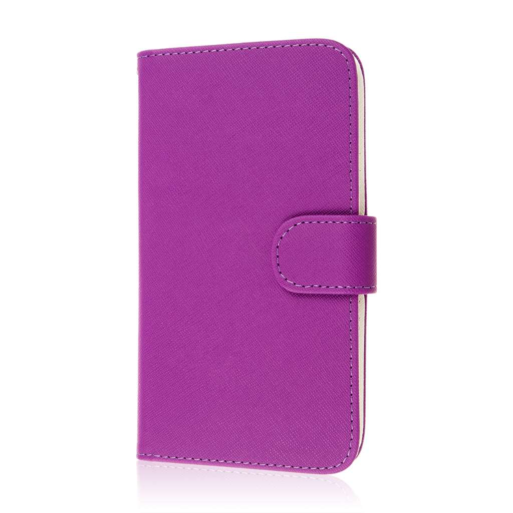 Google Nexus 6 - Purple MPERO FLEX FLIP Wallet Case Cover