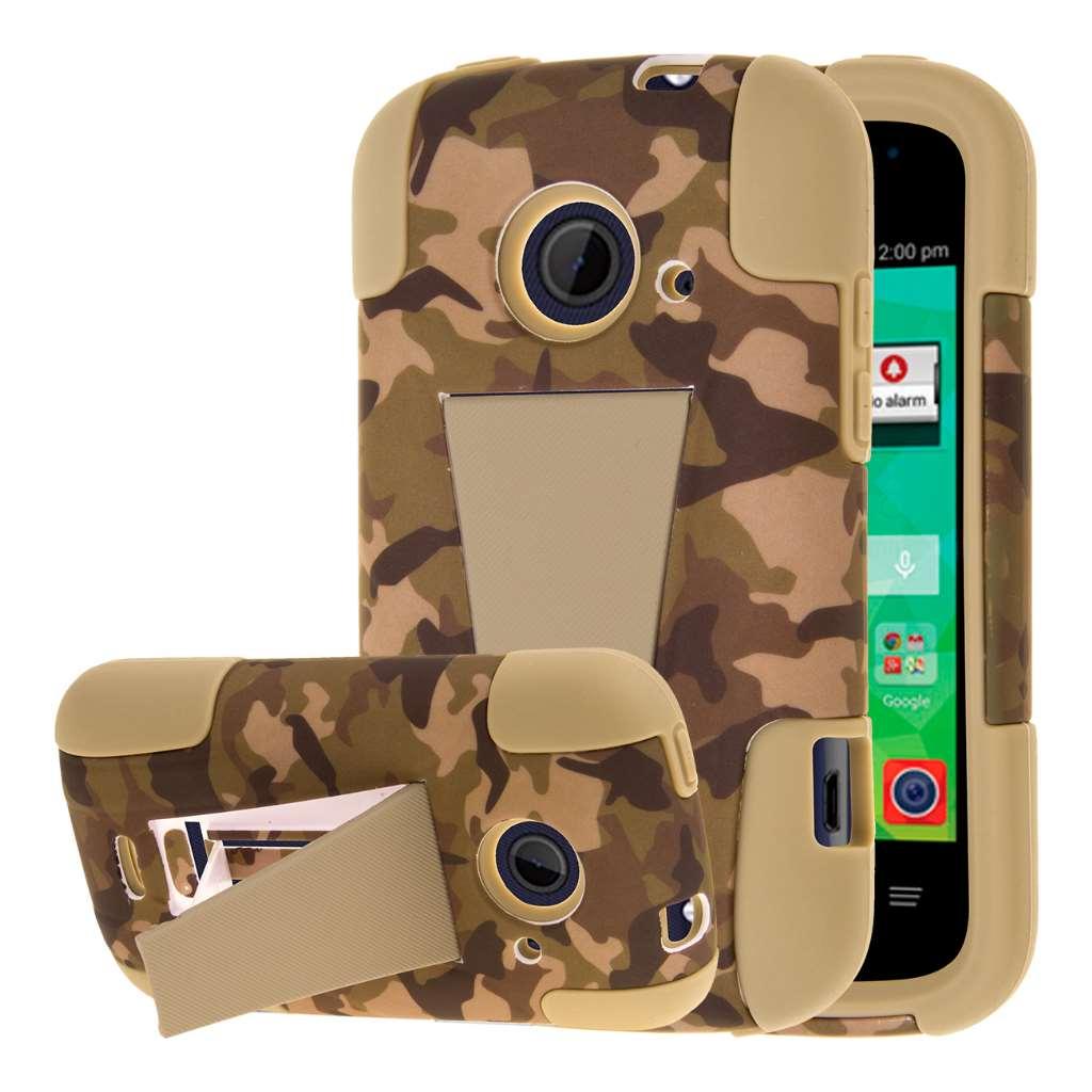 ZTE Zinger Z667 - Hunter Camo MPERO IMPACT X - Kickstand Case Cover