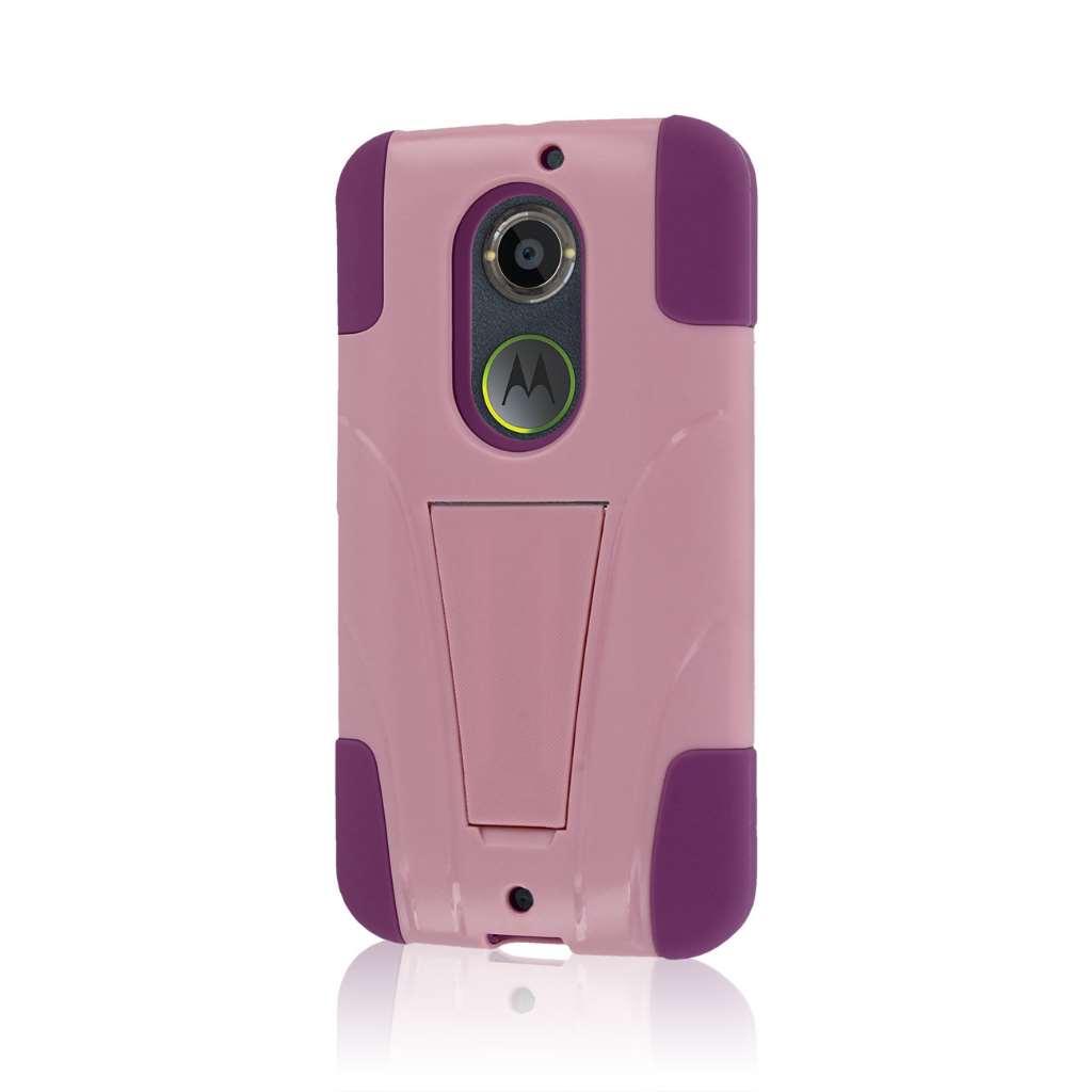 Motorola Moto X 2014 2nd Gen - Pink MPERO IMPACT X - Kickstand Case Cover