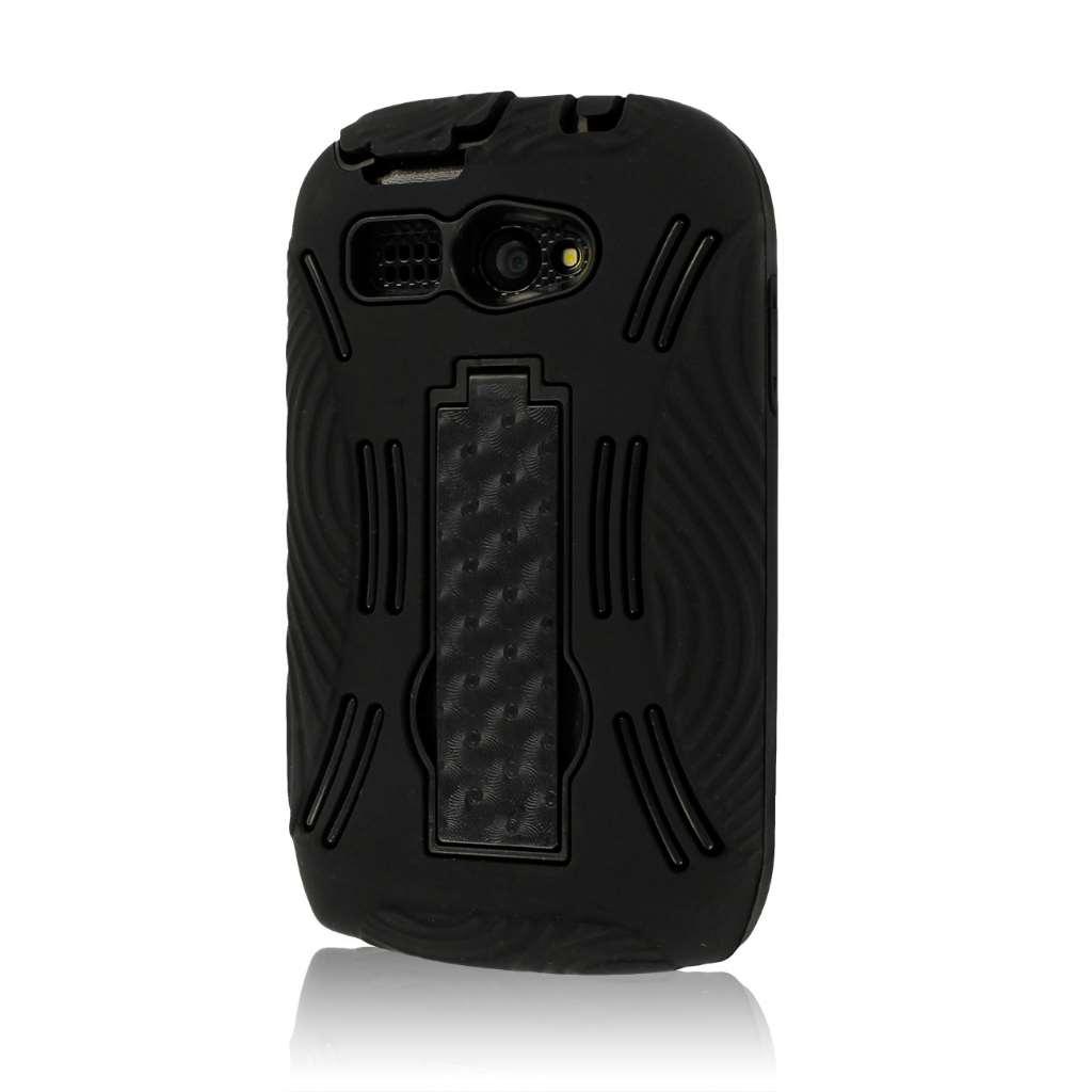 Kyocera Hydro C5170 - Black MPERO IMPACT XL - Kickstand Case Cover