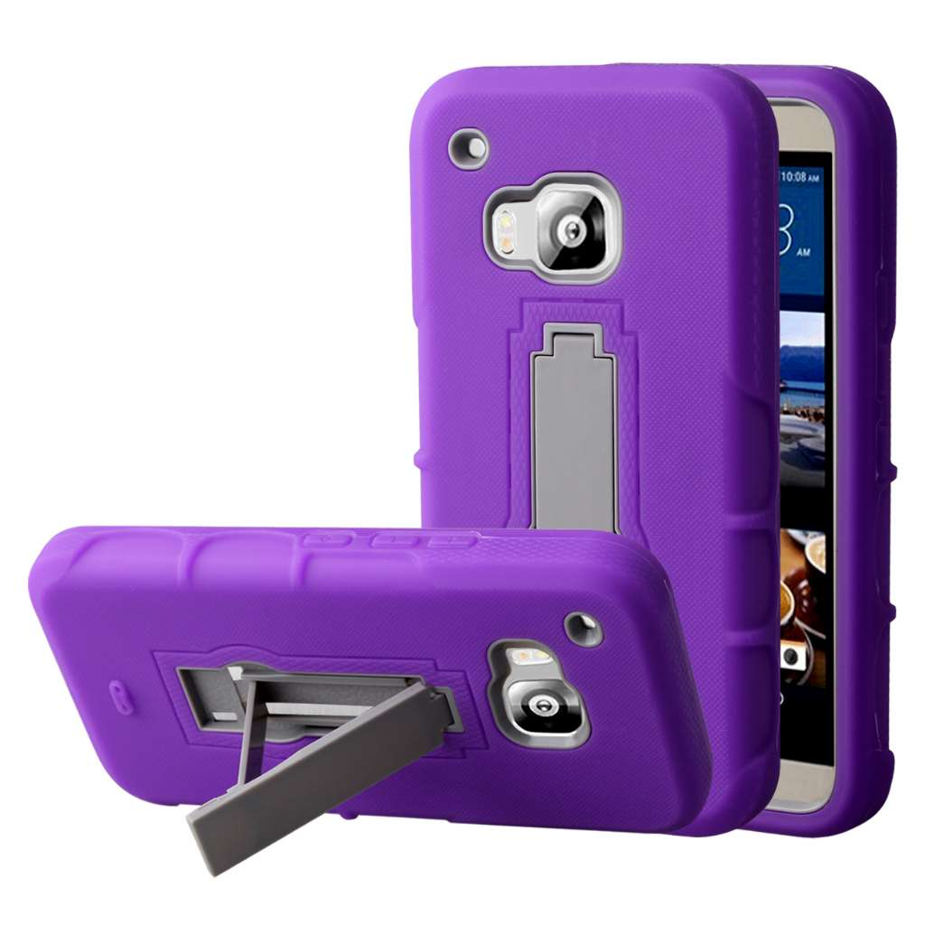 HTC One M9 - Purple MPERO IMPACT XS - Kickstand Case Cover