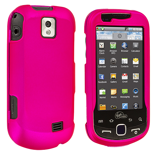Samsung Intercept i910 Hot Pink Hard Rubberized Case Cover