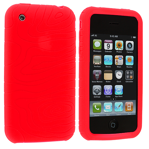 Apple iPhone 3G / 3GS Red Earth Silicone Soft Skin Case Cover