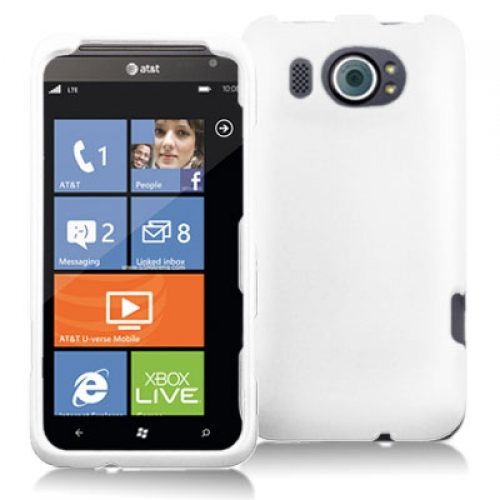 HTC Titan II 2 White Hard Rubberized Case Cover