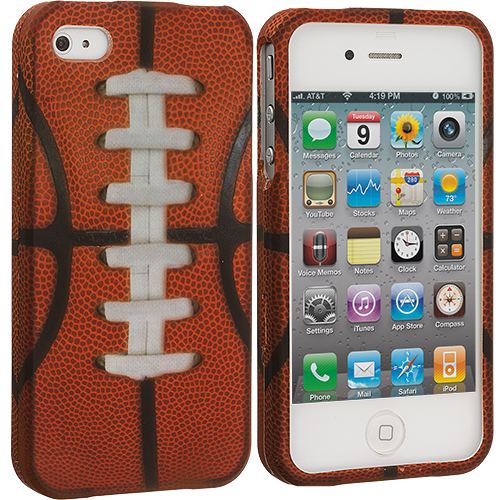 Apple iPhone 4 / 4S Football Hard Rubberized Design Case Cover