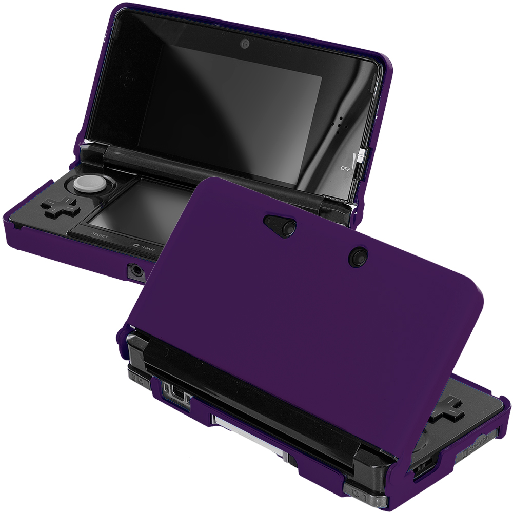 Nintendo 3DS Purple Hard Rubberized Case Cover